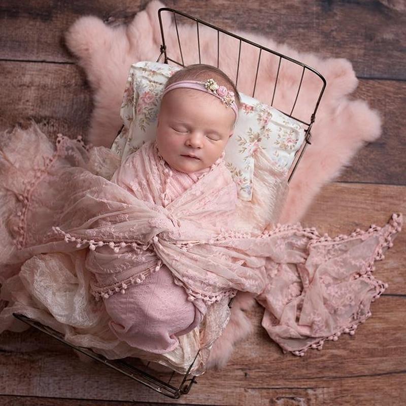 Lace Wraps For Baby Newborn Photography Props Photo Shoot Studio Accessories Flokati Girl Fotografia Accessory Photoshoot
