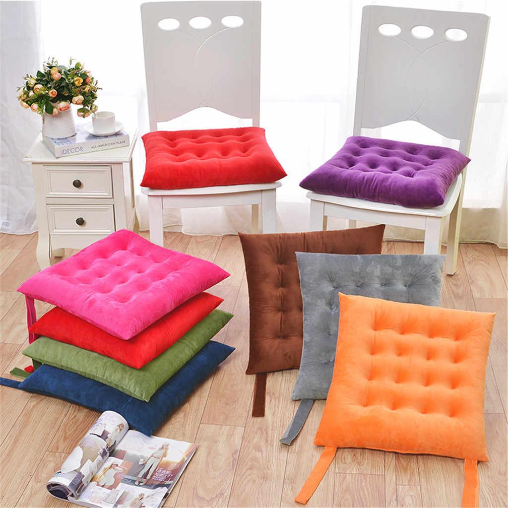 Seat Cushion Plain Chair Pad Dining Room Garden Kitchen Chair Velvet Cushions Tie On New 2o14 Aliexpress