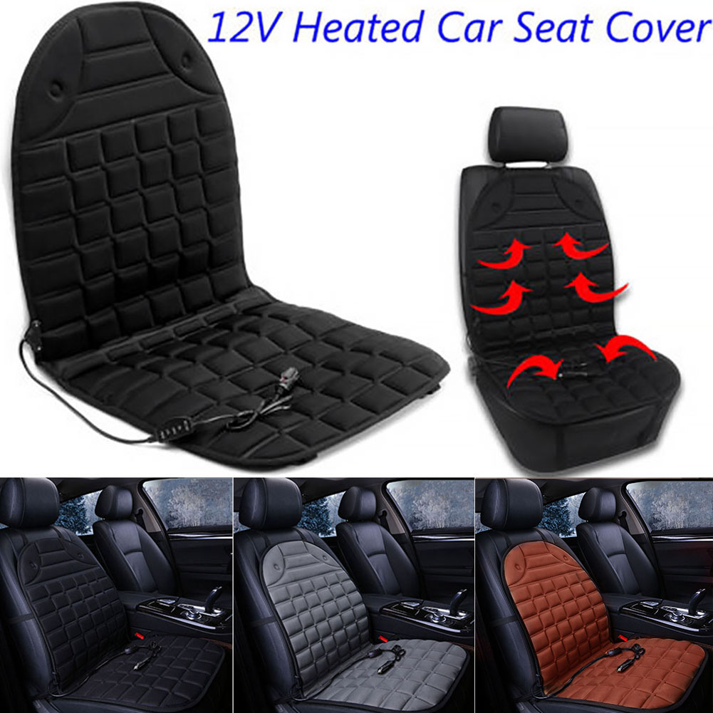 Universal Car Seat Heater Warmer Cushion Heated Pad Cover Adjustable Temperature