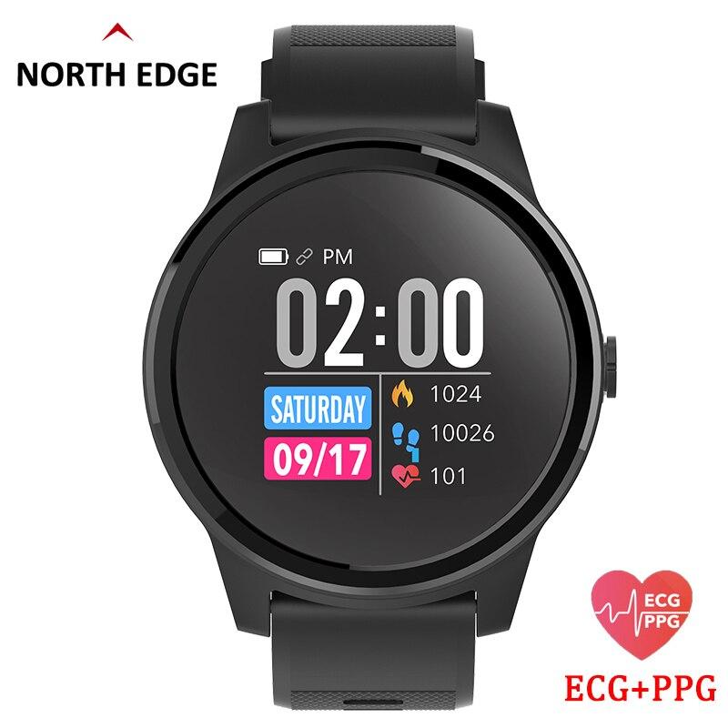 Tüketici Elektroniği'ten Akıllı Saatler'de Kuzey kenar akıllı saat ile nabız monitörü ekg PPG kan basıncı IP67 su geçirmez spor takip bilekliği akıllı saat