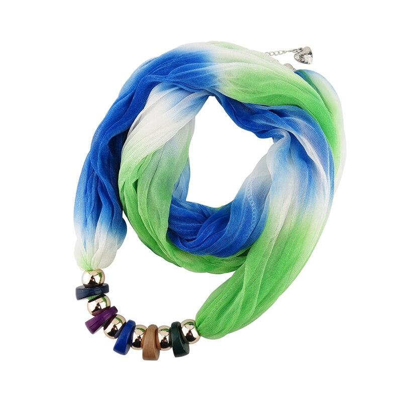 Krk šátek luxusní zbrusu nový módní pryskyřice přívěsek náhrdelník šály strana svatební šperky náhrdelník šály echarpe hidžáby