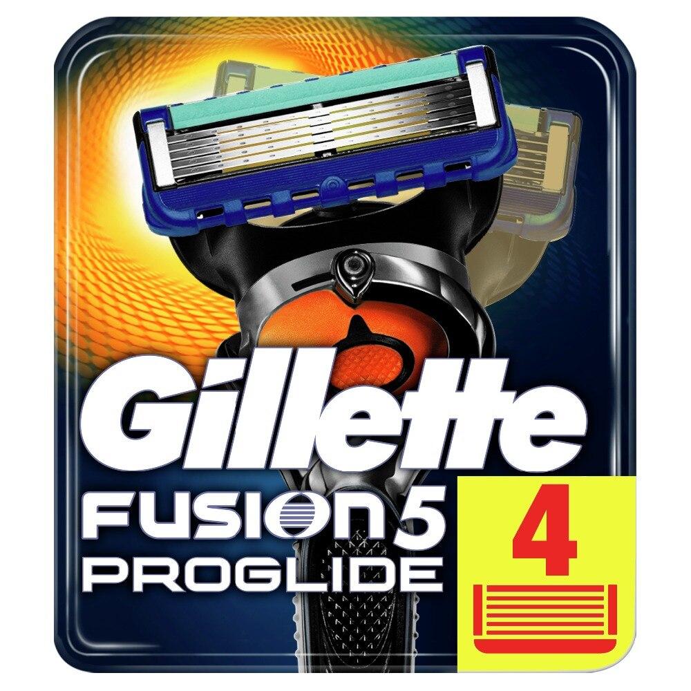 Removable Razor Blades For Men Gillette Fusion ProGlide Blade For Shaving 4 Replaceable Cassettes Shaving Fusion Cartridge