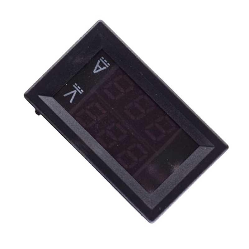 DC 0-100V 50A voltmètre numérique ampèremètre double affichage détecteur de tension courant mètre panneau ampèremètre 0.28 pouce 1 rouge rouge LED