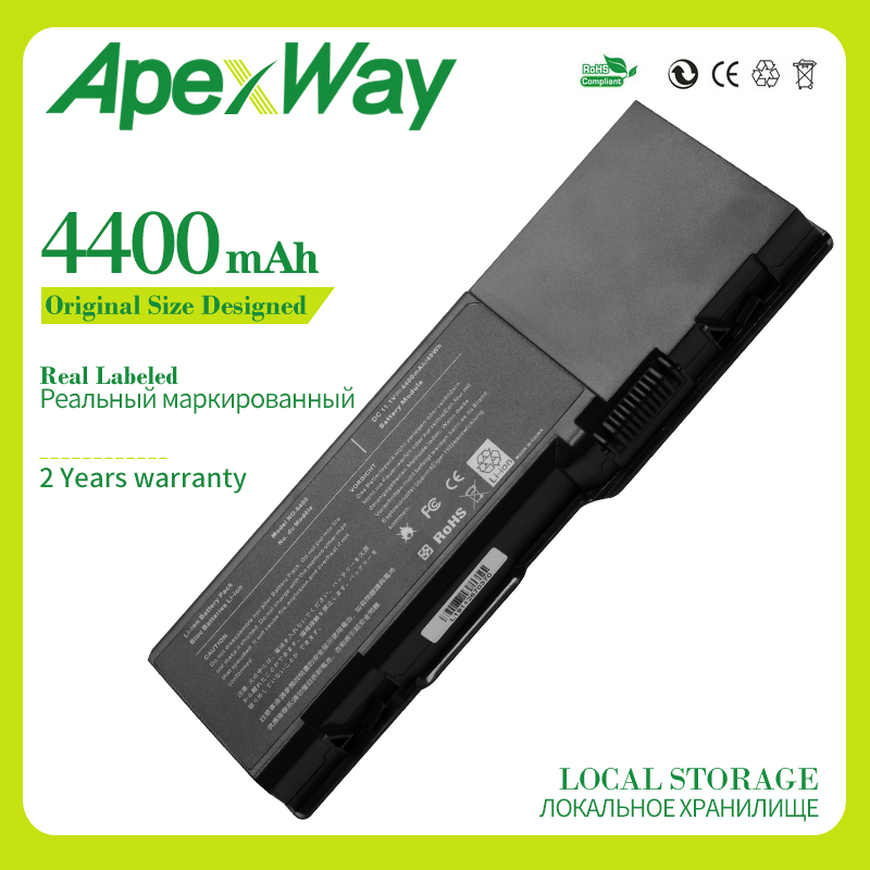 Apexway 4400mAh Laptop <font><b>Battery</b></font> for <font><b>Dell</b></font> <font><b>Inspiron</b></font> <font><b>1501</b></font> 6400 E1505 for Latitude 131L for Vostro 1000 312-0461 RD859 GD761 UD267 image
