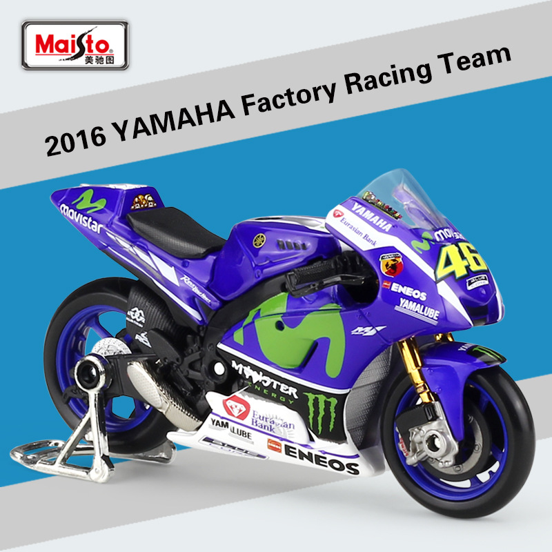 Maisto 1:18 Yamaha Team 46 Rossi Alloy Motorcycle Model Car Model Diecasts & Toy Vehicles Collect Gifts