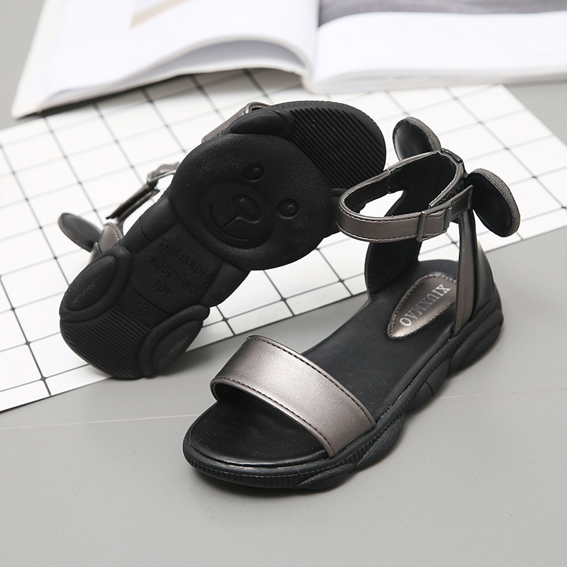 Fashion Bow Children Summer Shoes For Little Girls Sandals Kids Flat Beach Shoes Princess Sandals 3 4 5 6 7 8 9 10 11 12 Years