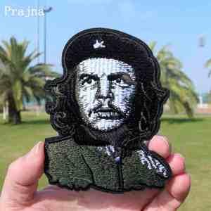 Prajna Vintage Geborduurde ERNESTO Che Guevara Portret Patch Cubaanse Revolutie Leider Ijzer Op militaire Jas Rugzak Patch Decor(China)