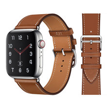 High quality Leather loop Band for iWatch 40mm 44mm Sports Strap Tour band for Apple watch 42mm 38mm Series 2 3 4 5 6 SE cheap CN(Origin) 22cm Watchbands New with tags 200001557