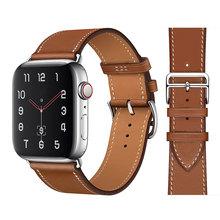 Wysokiej jakości skórzane taśmy sportowe do iWatch 40mm 44mm pasek sportowy do zegarka Apple 42mm 38mm seria 2 3 4 5 6 SE tanie tanio CN (pochodzenie) 22 cm Od zegarków Nowy z metkami For apple watch 200001557