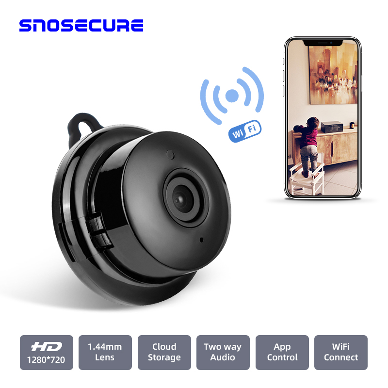 SNOSECURE Smart Home 1080P MINI WIFI Cloud Storage IP Camera Wireless Small CCTV Night Vision Motion Detection Two Way Audio