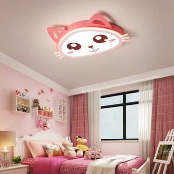 Verllas Modern led ceiling light cat pink Cartoom lights for ...