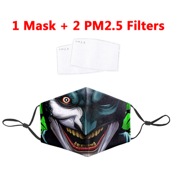The Joker Cartoon 3D Masks Protective PM2.5 Filter Mouth-Muffle Anti Dust Face Mask Bacteria Proof Flu Mask Cosplayer Clown Mask