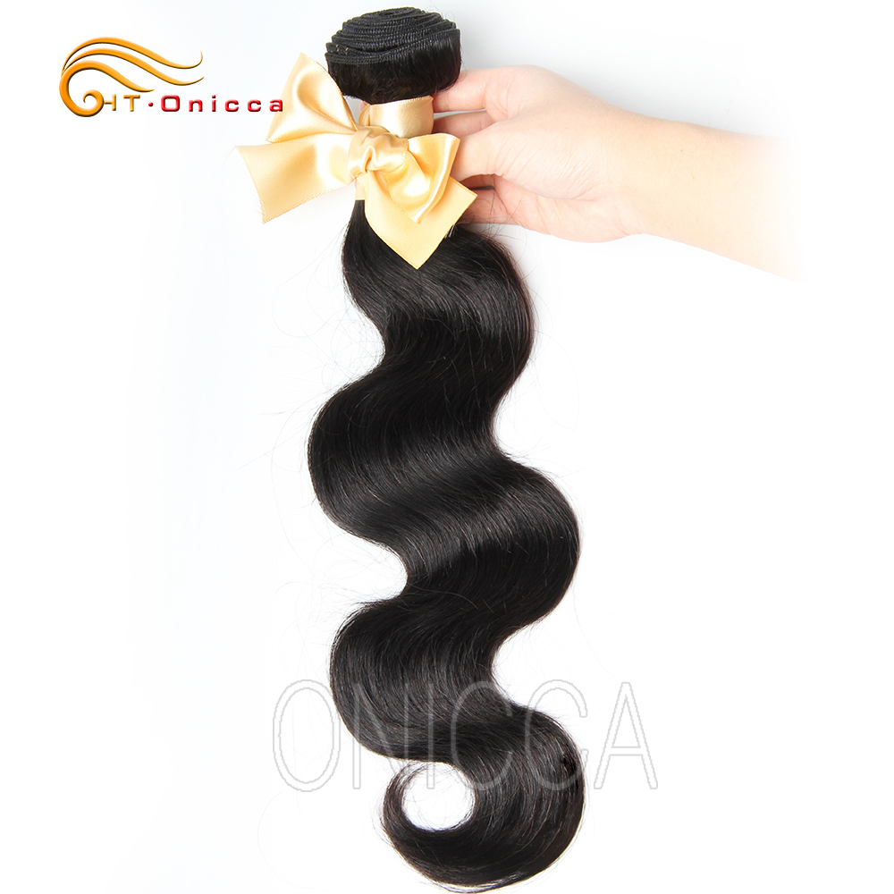 Htonicca Peruvian Body Wave Hair Weave <font><b>22</b></font> <font><b>24</b></font> <font><b>26</b></font> <font><b>28</b></font> inch 3 4 <font><b>Bundles</b></font> Deal 100% Human Hair Remy Hair Natural Color Double Weft image