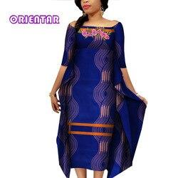 Mode robe africaine Slash cou Sexy Dashiki robes pour les femmes afrique Bazin Riche imprimé décontracté épaules nues vêtements WY4187