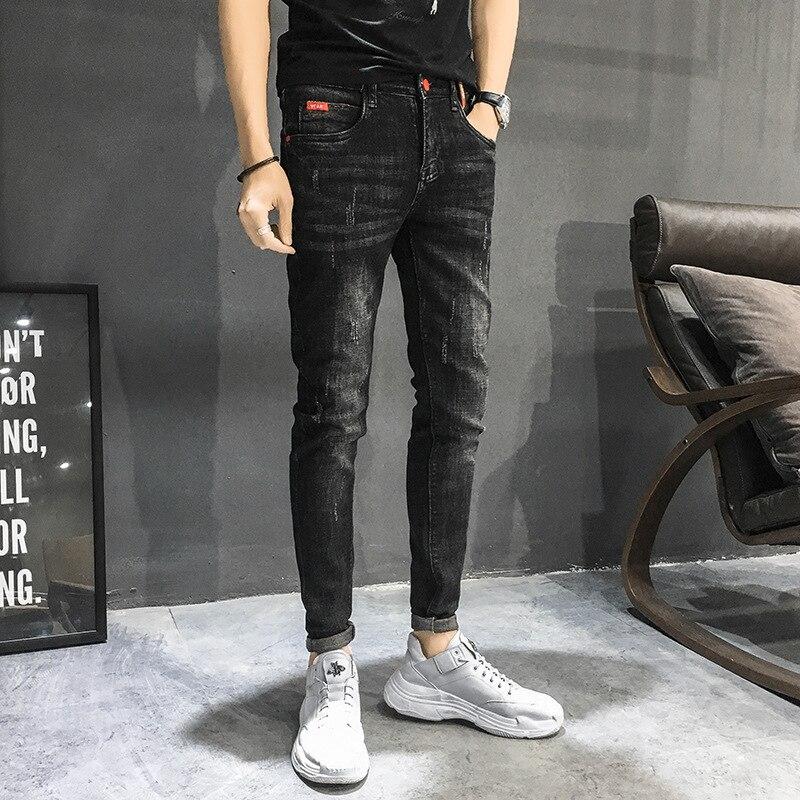 Perennial-Quality Store Owner-Style Retro Versatile Skinny Pants Men's Korean-style Jeans Slim Fit Long Pants