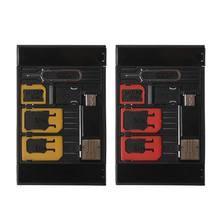5 w 1 uniwersalny Mini Adapter na karty SIM futerał do przechowywania zestawy do Nano karta Micro SIM karta pamięci TF czytnik