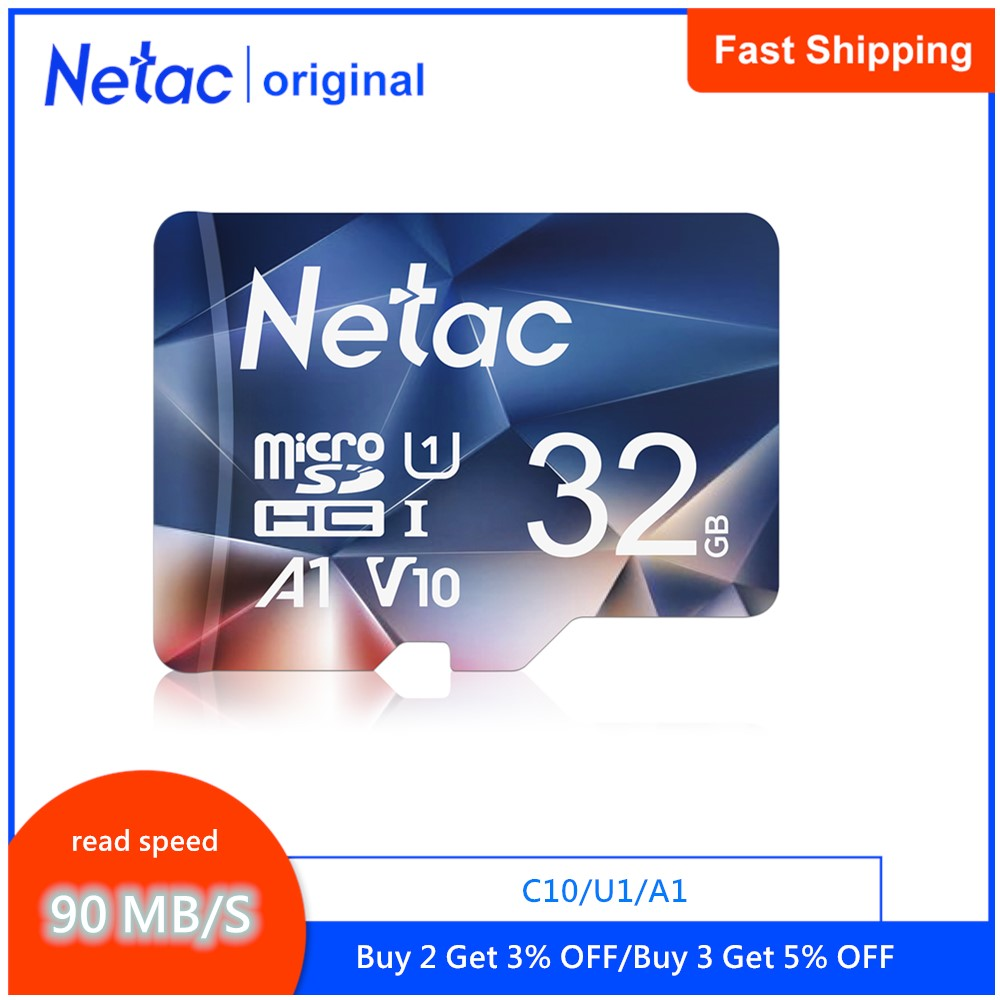 Netac P500 A1 Memory Card 64GB 32GB 16GB 100MB/S Microsd TF/SD Card Class10 UHS-1 Flash Card Memory 32 GB Micro SD Card Hot sale title=