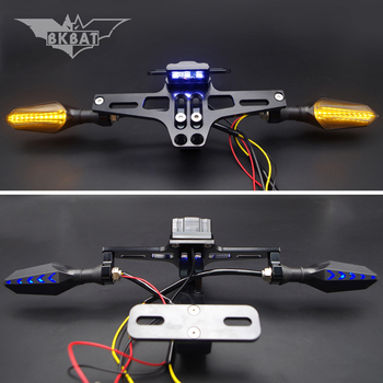 Motorcycle License Frame Bracket With LED Turn Signal Light For bmw f 650 gs k100 f650 gs s1000rr g310r r850r r 1250 gs f850gs