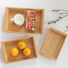 1PC Bamboo Wood Rectangular Bowls Plates for food Snack Tea Coffee Cocktail Meals Fruit Trays Home Garden Decoration Crafts