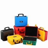 280x240x130mm 안전 악기 도구 상자 ABS 플라스틱 저장 도구 상자 봉인 된 도구 상자 상자 내부 4 색|공구 케이스|도구 -