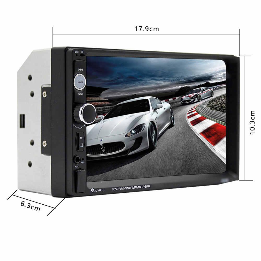 """カーラジオ 2 Din 7 """"HD Autoradio マルチメディアプレーヤー MP5 自動タッチスクリーンオーディオ Bluetooth カメラ USB TF FM ステレオ"""