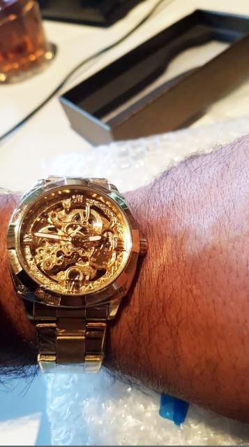 Ha2b41bd557f543aeb201419e49eee9cbr Forsining 2018 Fashion Retro Men's Automatic Mechanical Watch Top Brand Luxury Full Golden Design Luminous Hands Skeleton Clock