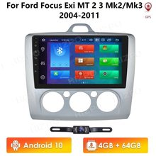 Ossuret PX5 Ford Focus 2 için 3 Mk2/Mk3 2004-2011 araba radyo multimedya video oynatıcı GPS yok 2 din DVD Android 10 4GB + 64GB 4G WIFI(China)