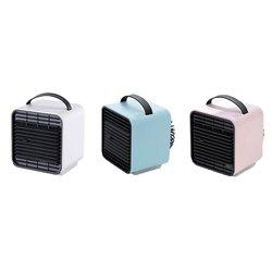 Mini chłodnica powietrzna Usb ładowarka biurkowa Spray wentylator klimatyzacji ręczny przenośne biuro jonów ujemnych mały wentylator