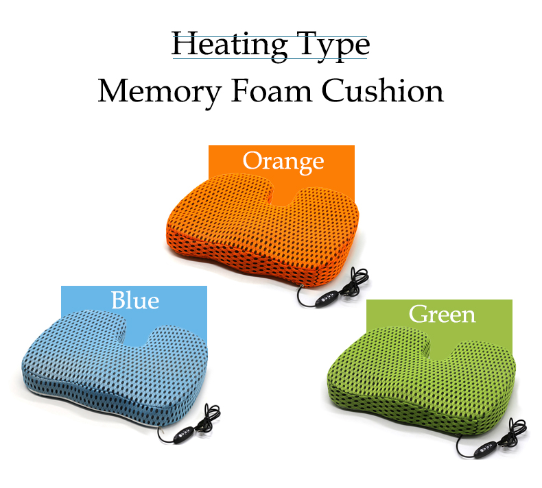 PurenLatex Heating Cushion Hot Sale Slow Rebound Memory Foam Chair Car Seat Hips Pillow Tailbone Coccyx Protect Cushion (7)