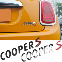 Schwarz Silber COOPER S Buchstaben Logo Schrift Stamm Aufkleber Für MINI COOPERS Auto Heckklappe 3D ABS Emblem Typenschild Auto Tuning