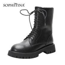 Sophitina/женские ботинки; Модные высококачественные ботинки