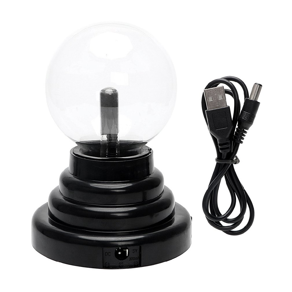 ICOCO USB Plasma Ball Lamp Touch Sensitive Novelty Glass Light Sphere Nightlight Kids Birthday New Year Gifts Decor Ball Lamp