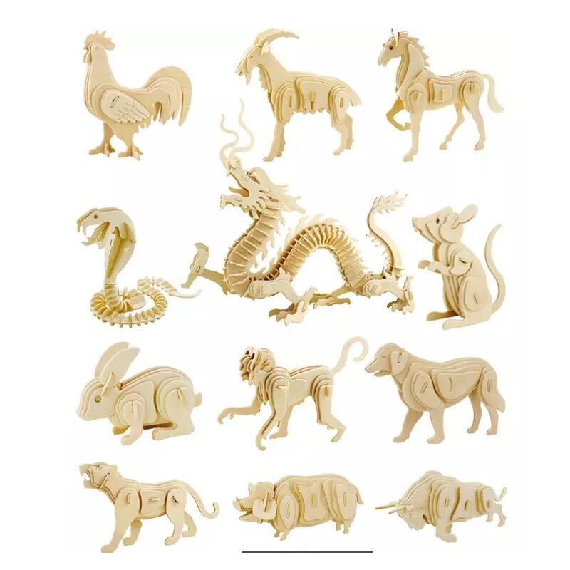 12 Zodiac Chinese Animals CAD Vector Design Drawing Files For CNC Laser Cutting Files