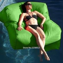 Зеленые Цвета прохладные трансформируемые Плавающие кровати открытый плавающие мешки фасоли, большой, но легкий вес