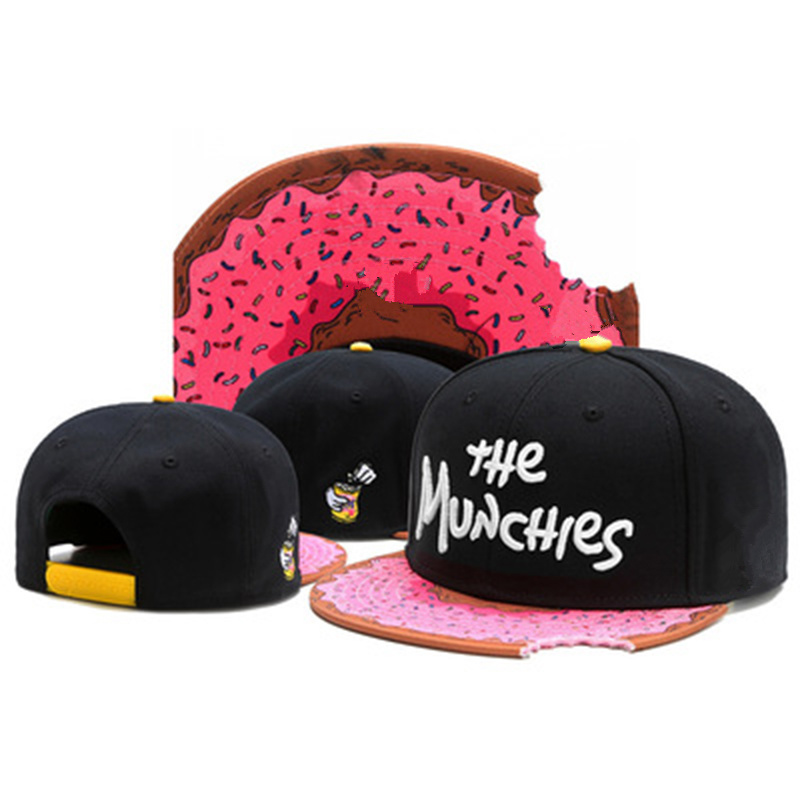 New MUNCHIES Letter Embroidery Transition Cap Fashion Street Dance Hip Hop Caps Outdoor Leisure Sports Hat Snapback Cap