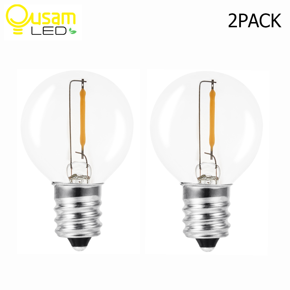 G40 edison lâmpada para acessórios de luz solar à prova dwaterproof água lâmpada retro edison 2 pçs