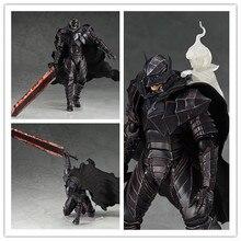 16cm New Game Berserk Beruseruku Figma410 Black Swordman Berserk Guts PVC Action Figure Collectable Model Toy Doll