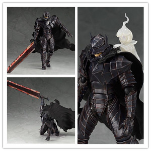 Image 1 - 16cm New Game Berserk Beruseruku Figma410 Black Swordman Berserk Guts PVC Action Figure Collectable Model Toy Doll
