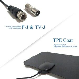 Image 4 - HDTV Digital TV Antenna Indoor DTV Antena Signal Amplifier Booster 1080P Satellite TV Aerial 50 miles Z231 BTVTVJ220130