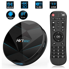 HK1 Mini Android 9.0 TV Box 4gb Ram Quad-Core Media Player WIFI 2.4G5.8G BT 4.0 Smart TV Box USB 3.0 4G64G Set Top Box 4K IP TV dolamee d5 smart tv box android 5 1 quad core wifi 4k bluetooth media player new high quality