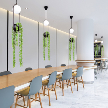 Cross-border for Nordic plant chandelier personality LED cafe restaurant lounge bar, wrought iron chandelier