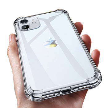Luxury Transparent Shockproof Silicone Case For iPhone 11 X Xr Xs Max Case 12 11 Pro Max 8 7 6s Plus SE Case Silicone Back Cover image