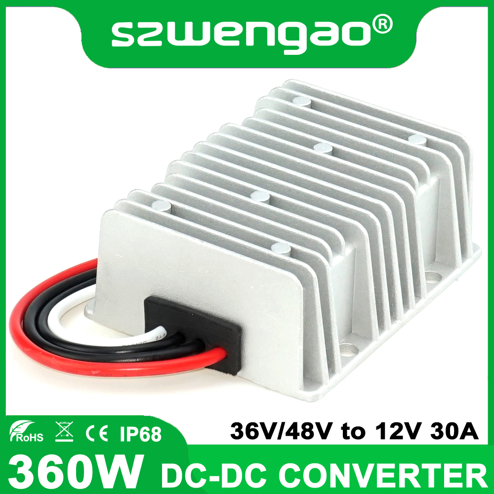 DC Converter 36V//48V Down to 12V 30A 360W Buck Module Voltage Regulator Reducer