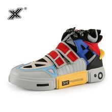 Xยี่ห้อผู้ชายรองเท้าผ้าใบ2019คุณภาพสูงหนังOxford Breathableแบนแพลตฟอร์มแฟชั่นสีลำลองผู้ชายรองเท้าTraines