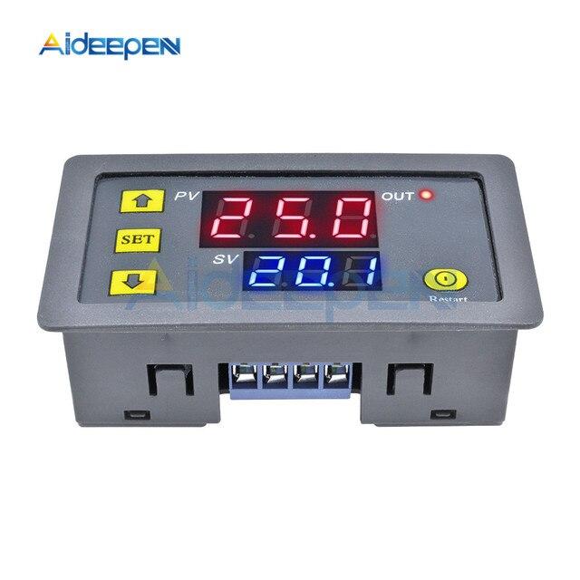 Cc 12V 24V ca 110V 220V Cycle numérique minuterie retard Module de carte relais micro-ordinateur contrôleur de temps retard relais Module commutateur