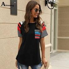 Женская футболка с принтом aimsnug Летняя Повседневная Туника