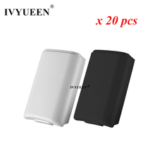 IVYUEEN 20 pcs for Xbox 360 Wireless Controller AA Battery Back Case Black White Battery Pack Cover Replacement Housing Shell