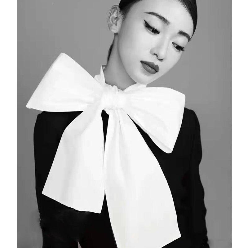 Cosmicchic 2019 femmes nœud Blouse à manches longues or boutons de manchette blanc coton chemise piste Designer bureau Blouse Slim décontracté hauts