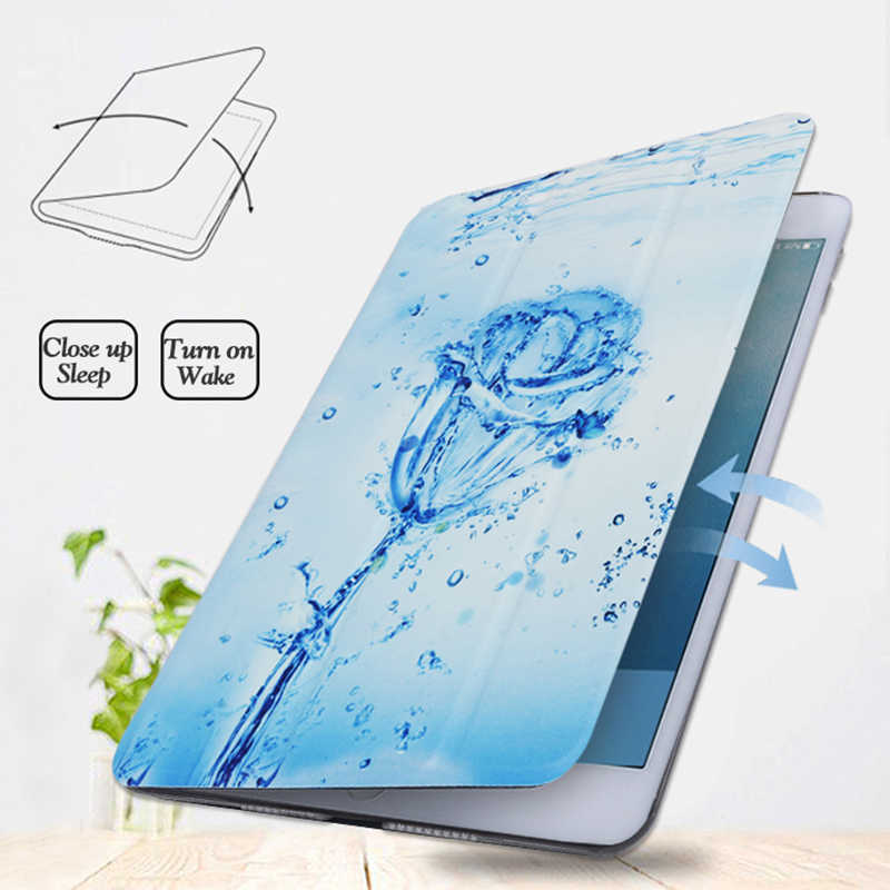 Case untuk Samsung Galaxy Tab 8.0 Inci 2019 SM-T290 T295 Berdiri Magnetik PU Kulit Smart Tablet Cover untuk Tab 8.0 ''Funda Coque