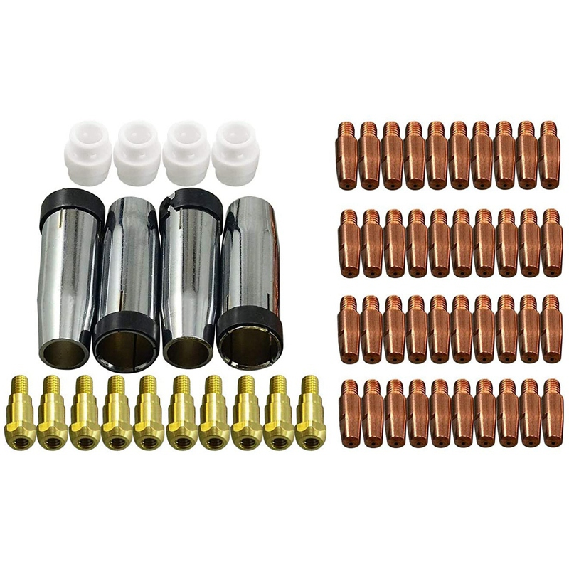 Contact Tip Conical Gas Nozzle Tip Holder & 24KD MB24 MIG  Welding Torch 59Pcs